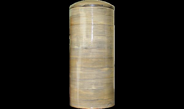 URNE BAMBOU CYLINDRE - GRIS
